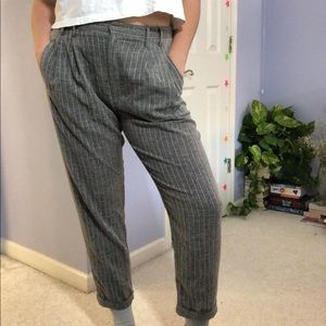 Gray Striped Trousers